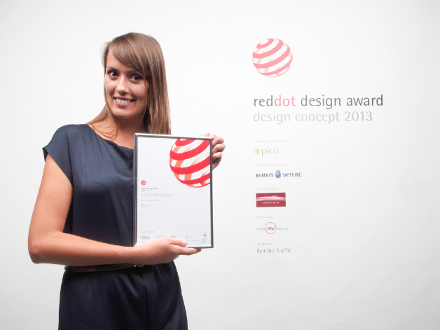 Dominika Drezner z nagrodą Red Dot. fot Materiały prasowe