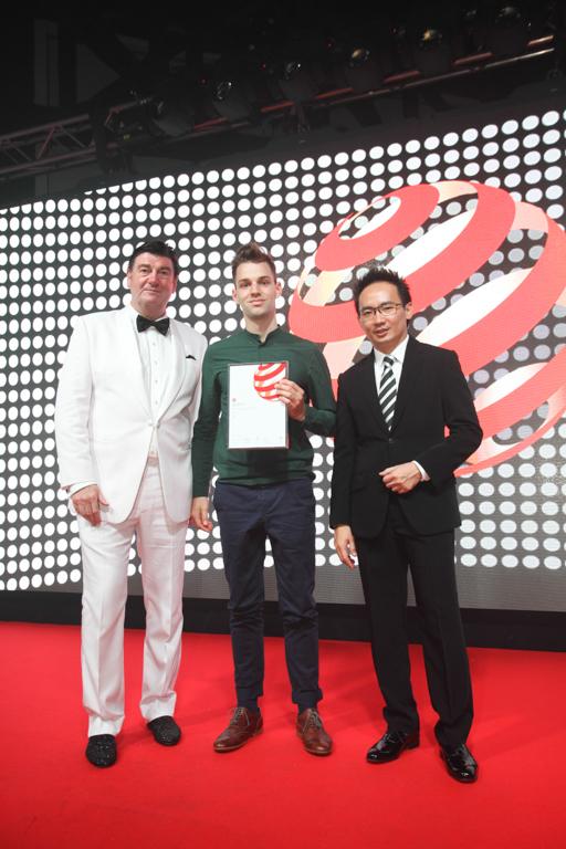 Jan Lutyk podczas gali w Singapurze. fot. Materiały prasowe