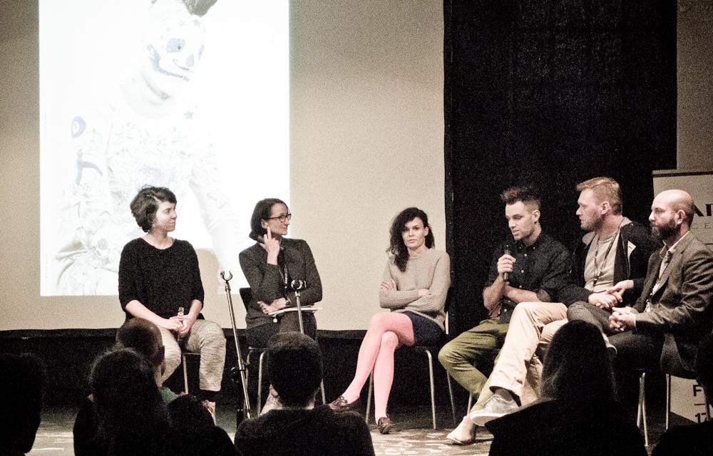 Od lewej: Małgorzata Żmijska, Ewa Trzcionka,  Anna Łoskiewicz-Zakrzewska, Jan Lutyk, Michał Piernikowski i Wojciech Trzcionka. fot. Iwona Gach