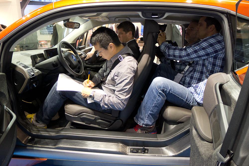 Chiński szpieg w nowym BMW i3. fot. Wojciech Trzcionka
