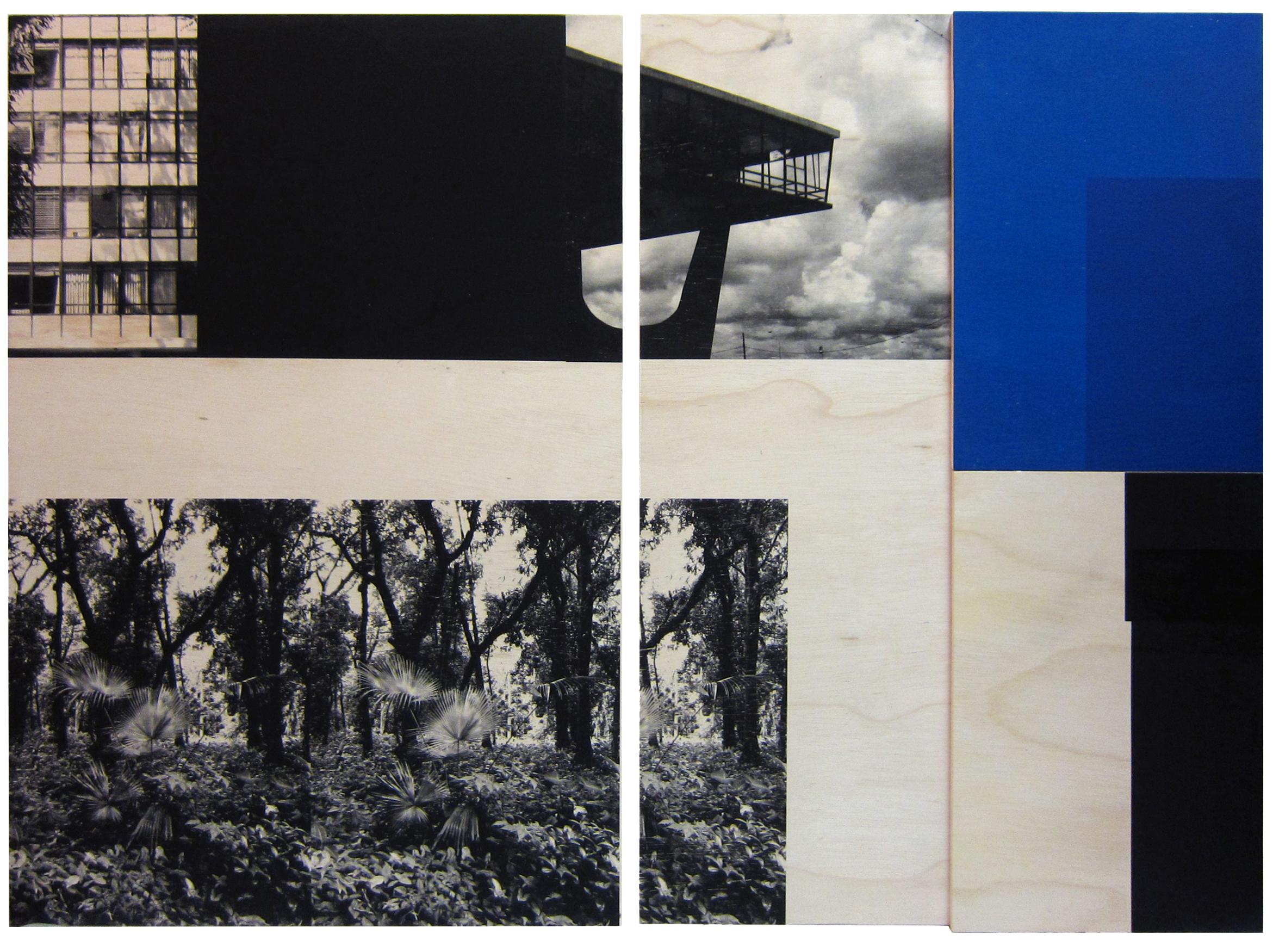 Laercio Redondo, Lembrança de Brasilia (Pamiątka z Brazylii), 2013, z serii Lembrança de Brasilia (Pamiątka z Brazylii), dyptyk: sitodruk, sklejka, fot. dzięki uprzejmości artysty oraz Silvia Cintra+Box 4 Gallery