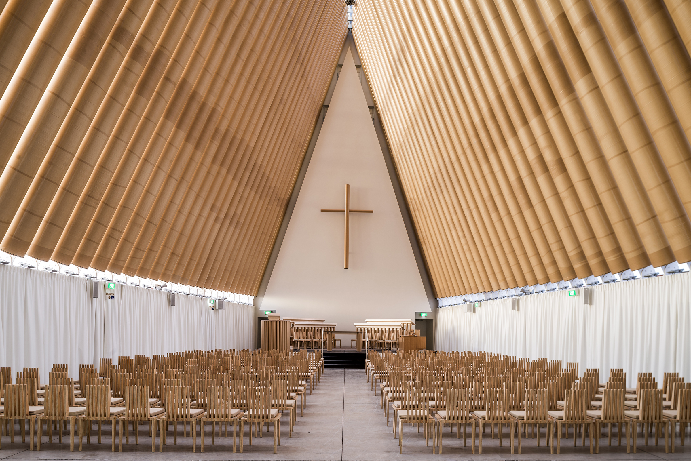 Cardboard Cathedral, 2013, Christchurch, New Zealand. fot. Stephen Goodenough