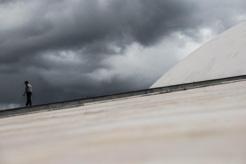 Muzeum Narodowe - Museu Nacional do Conjunto Cultural da República - w Brasilii to budynek projektu Oscara Niemeyera.