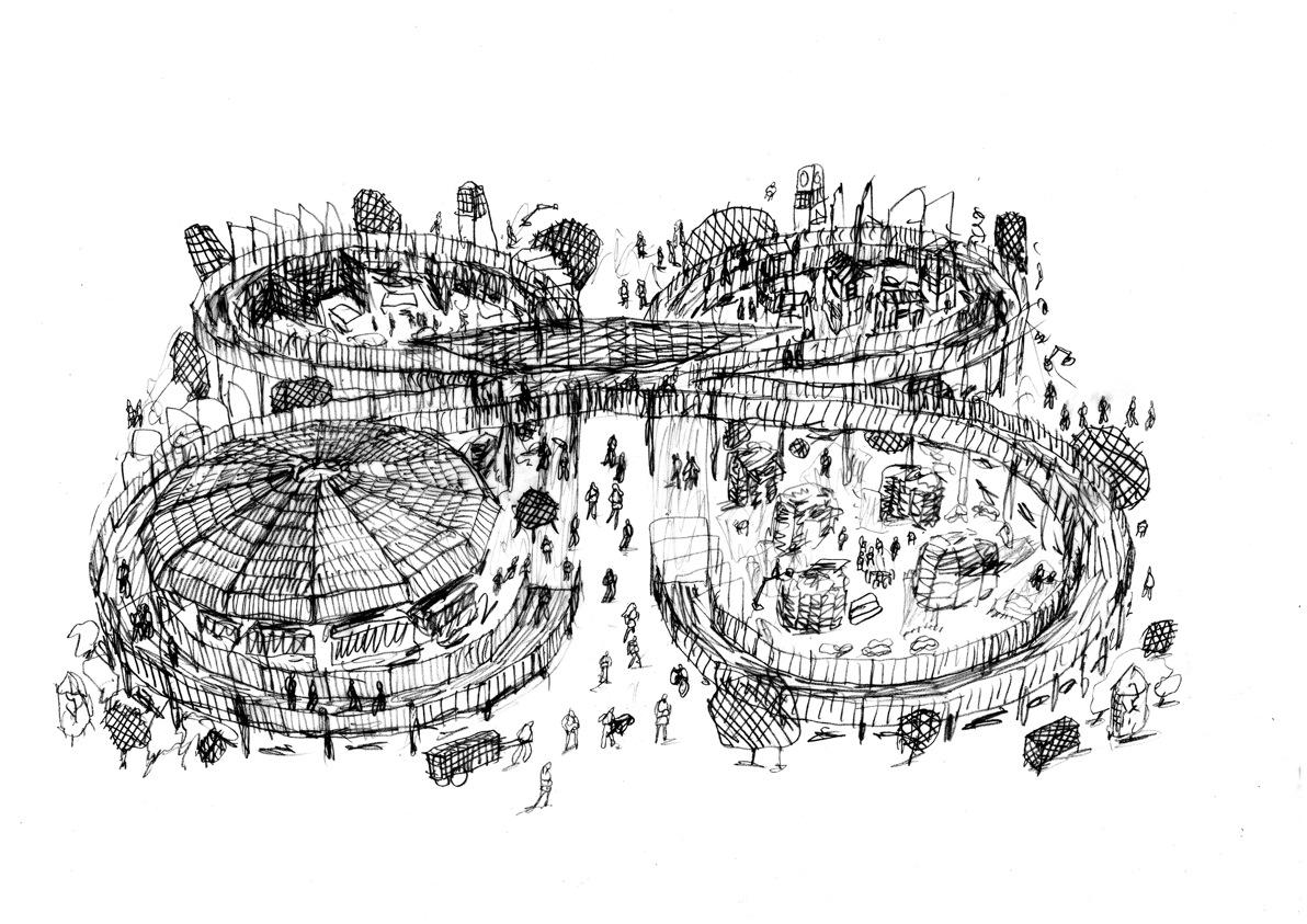 The Walk_Michele De Lucchi's project sketch