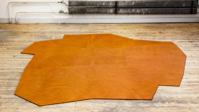 Skórzane dywany