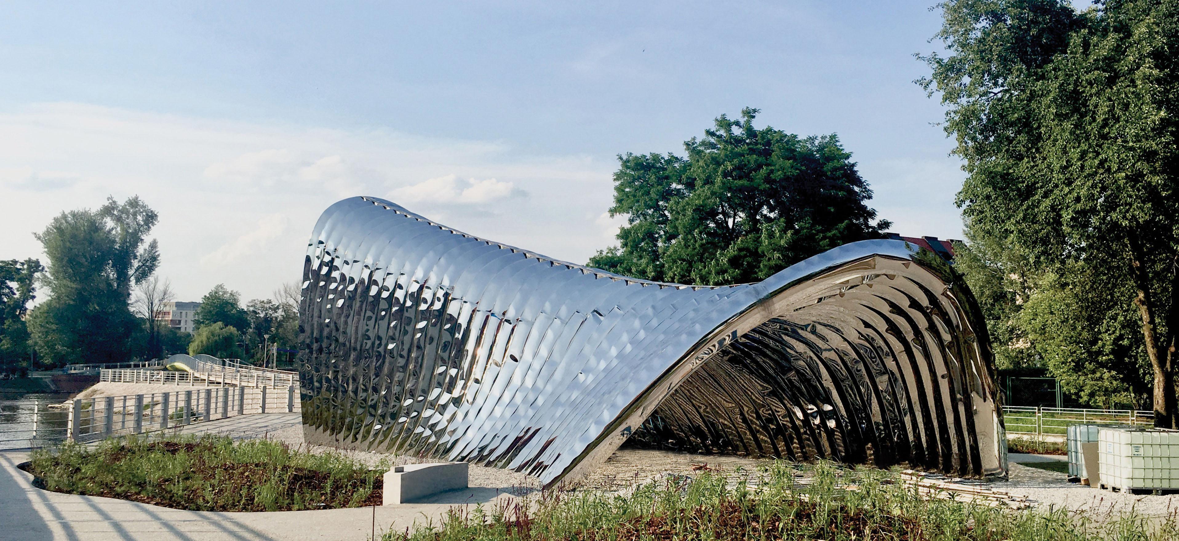 Oto NAWA! Ultralekka rzeźba Oskara Zięty odmieniła Wyspę Daliową