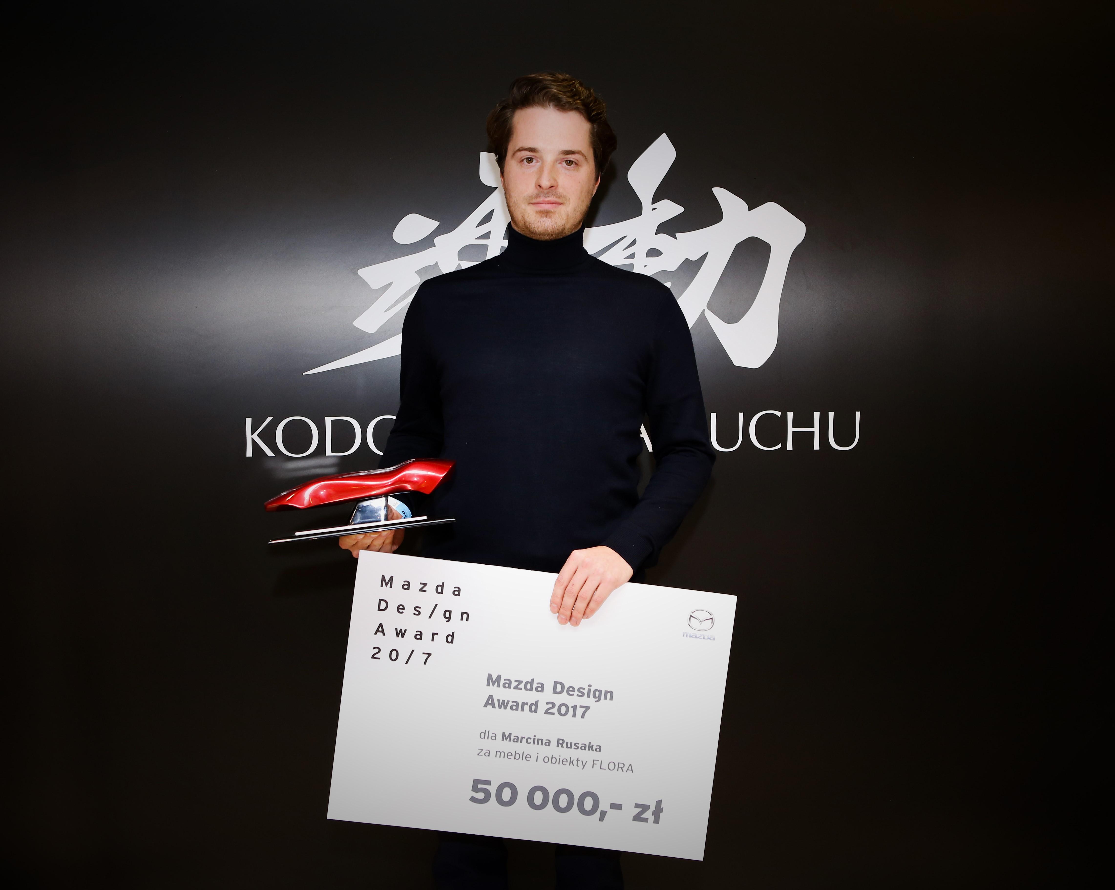 Marcin Rusak laureatem pierwszej edycji Mazda Design Award