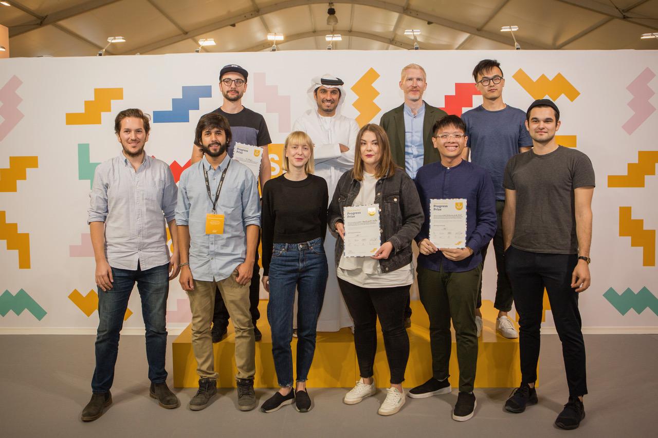Ewa Dulcet i Martyna Świerczyńska z innymi laureatami Progress Prize na Global Grad Show w Dubaju!