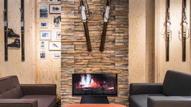 Olimpijskie kolekcje w pawilonie inspirowanym górską architekturą