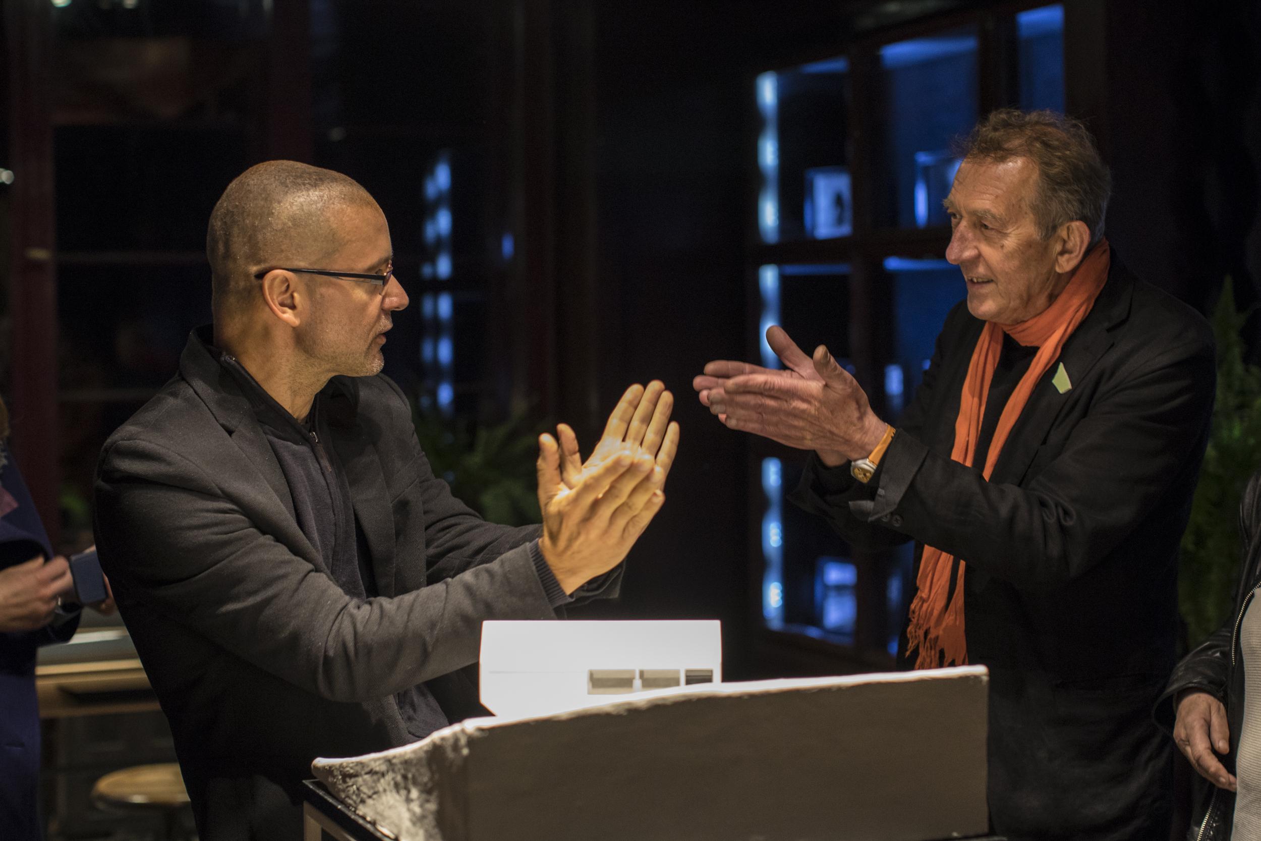 Do Domu Idei zaprosiliśmy m.in. architekta Roberta Koniecznego (na zdjęciu z lewej) i ceramika Marka Cecułę. fot. Marek Swoboda