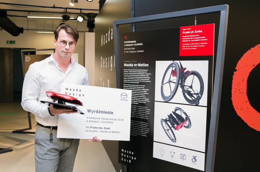 """Wyróżnienie zostało przyznane Fryderykowi Zysce za projekt """"Mazda re-Motion""""."""