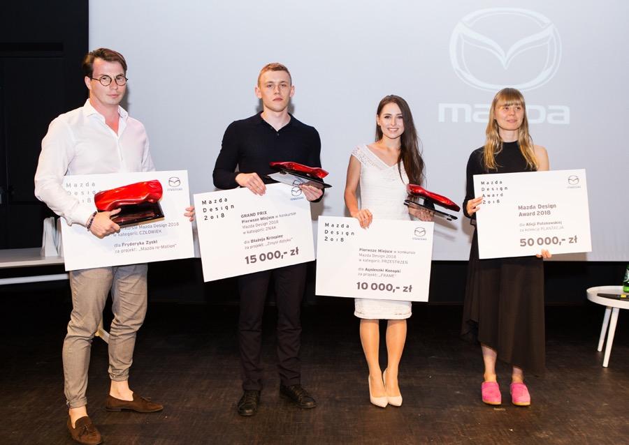 Laureaci Mazda Design Award 2018.