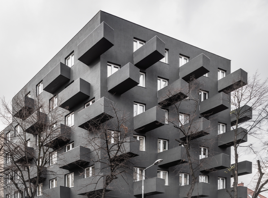 Budynek w stylu przybrudzonej moderny. Bo takie są dziś Katowice