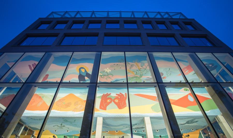 Fresk jest integralną częścią – właśnie otwartego - nowoczesnego centrum kreatywności i biznesu Concordia Design Wrocław.