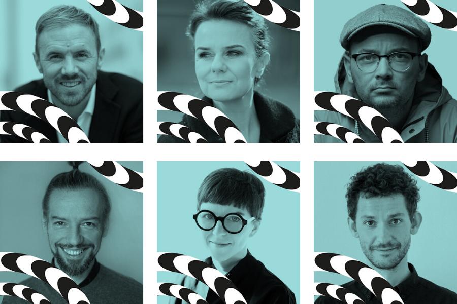 Prelegenci GDD2020 - od lewej: James Wallman, Julia Fiedorczuk, Filip Springer, Wiesław Bartkowski, Agata Nowak i Michał Bachowski