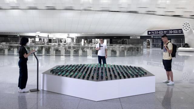 Lśniące ławice ryb inspiracją dla najnowszej interaktywnej rzeźby grupy panGenerator w chińskim Shenzhen