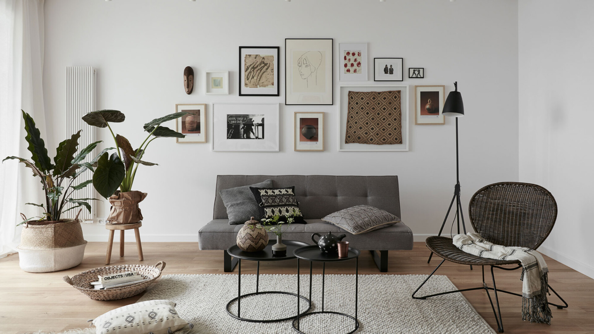 Mieszkanie pod wynajem w Warszawie. Projekt, realizacja, zdjęcia i stylizacja w wykonaniu JAM KOLEKTYW.
