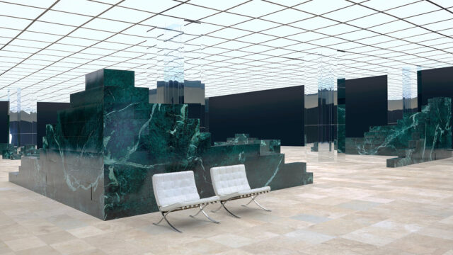 Hipnotyzujący pokaz najnowszej kolekcji Louis Vuitton
