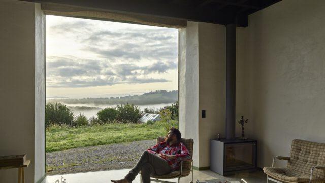 Wiejski dom z widokiem na Pireneje