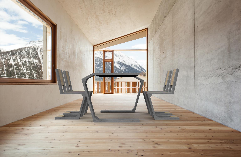 Na zdjęciu: stół i krzesło Gravity producenta Modern Line