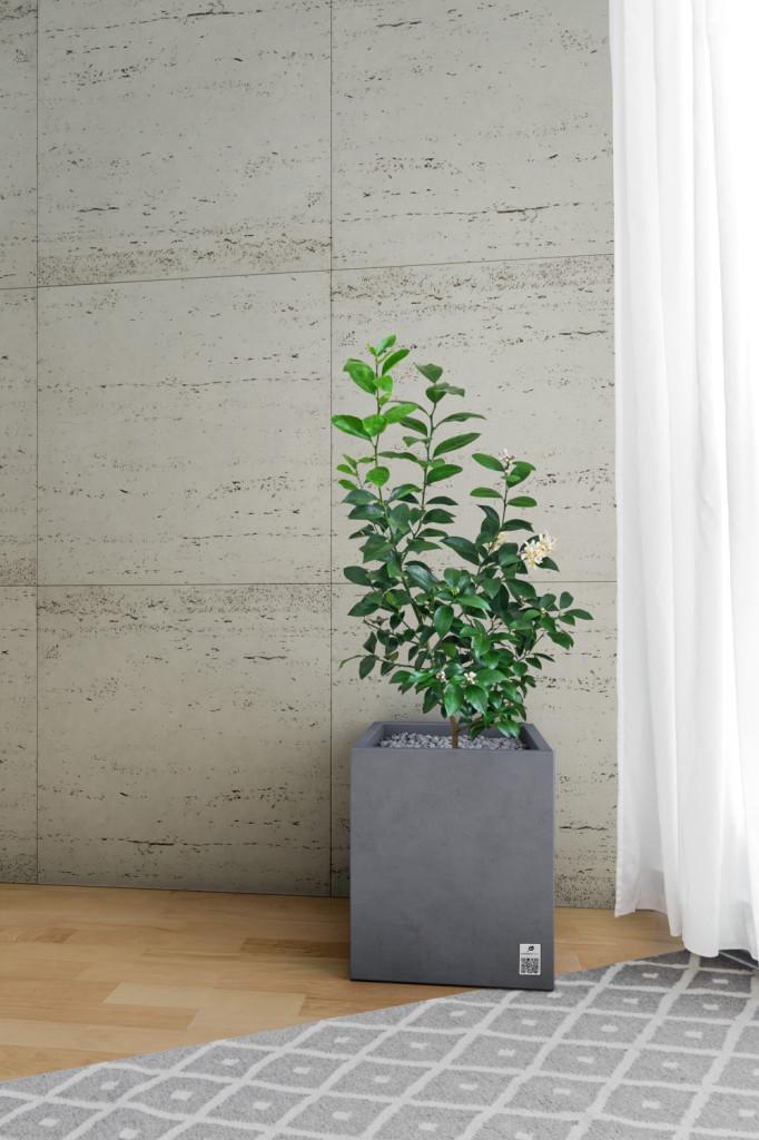 Na zdjęciu: beton w ofercie Modern Line – płyty Slim porous i tawertyn