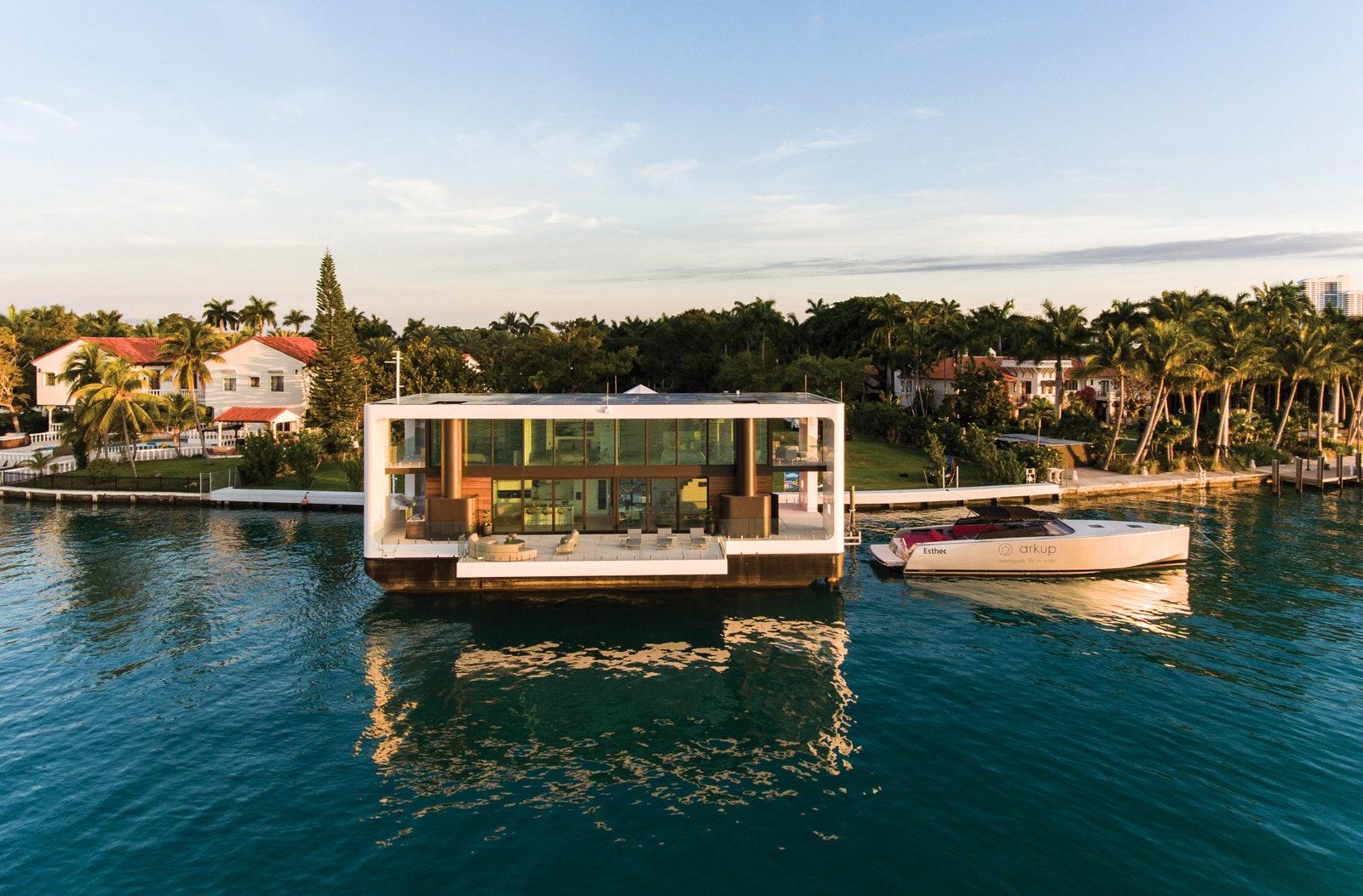 Pływający dom Arkup w Miami.