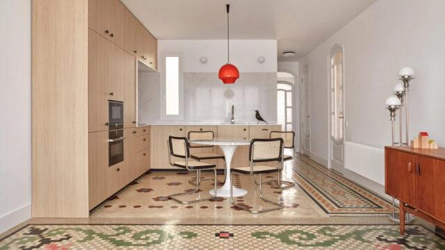 Ach te mozaiki! Piękna renowacja apartamentu z lat 20.