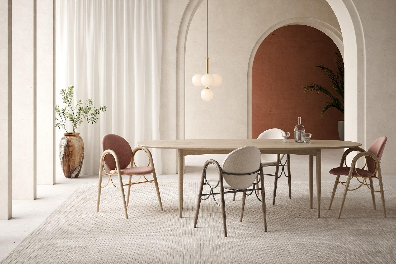 Na zdjęciu: zestaw krzeseł marki BRDR Kruger